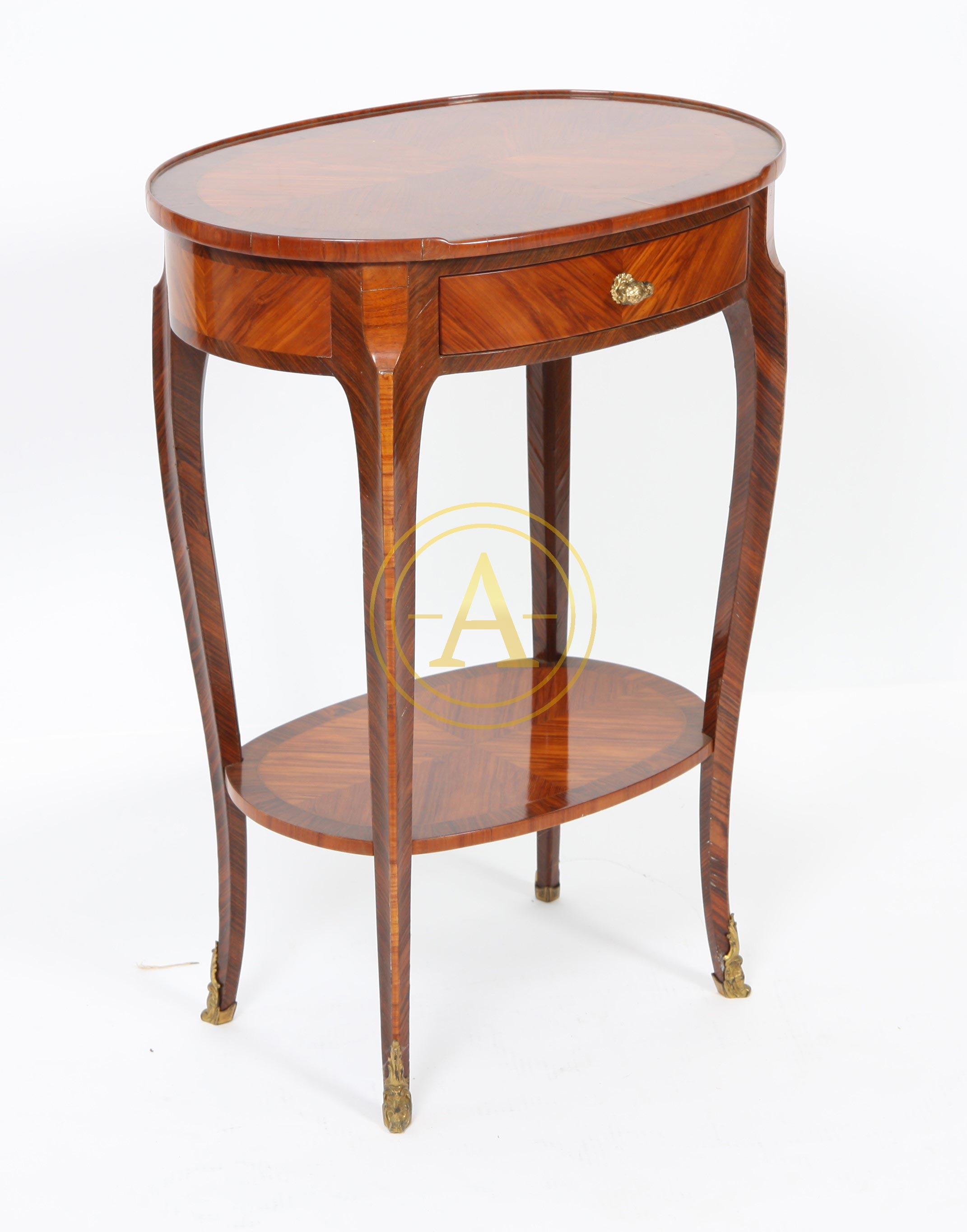 Table de salon louis xv ovale antiques trade gallery for Table salon ovale
